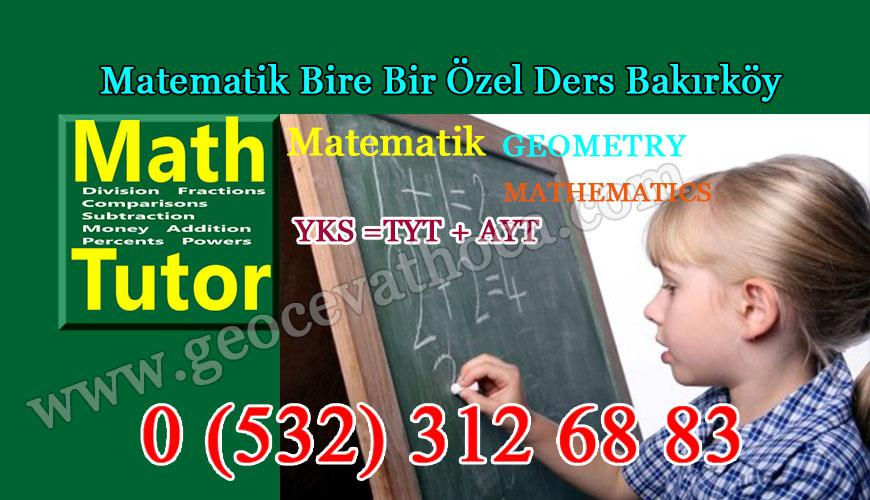 Matematik Bire Bir Özel Ders Bakırköy