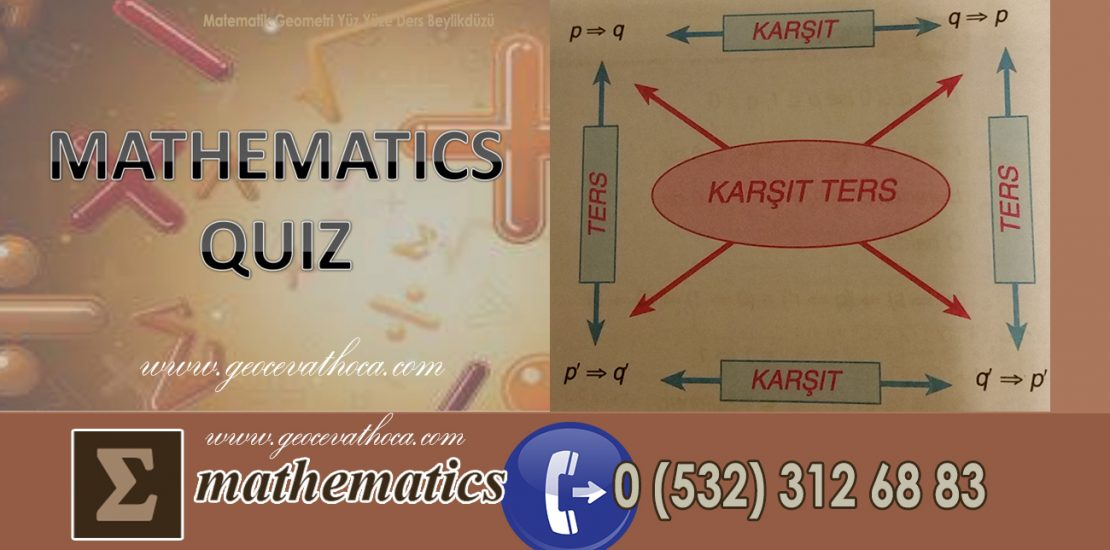 Matematik Geometri Yüz Yüze Ders Beylikdüzü